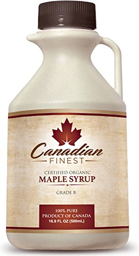 CANADIAN FINEST Maple Syrup | #1 Rated Maple Syrup on Amazon – 100% Pure Certified Organic Maple Syrup from Family Farms in Quebec, Canada – Grade B (B is the Best!) – Lifetime Guarantee