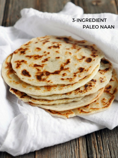 3 Ingredient Paleo Naan (Indian bread) My Heart Beets