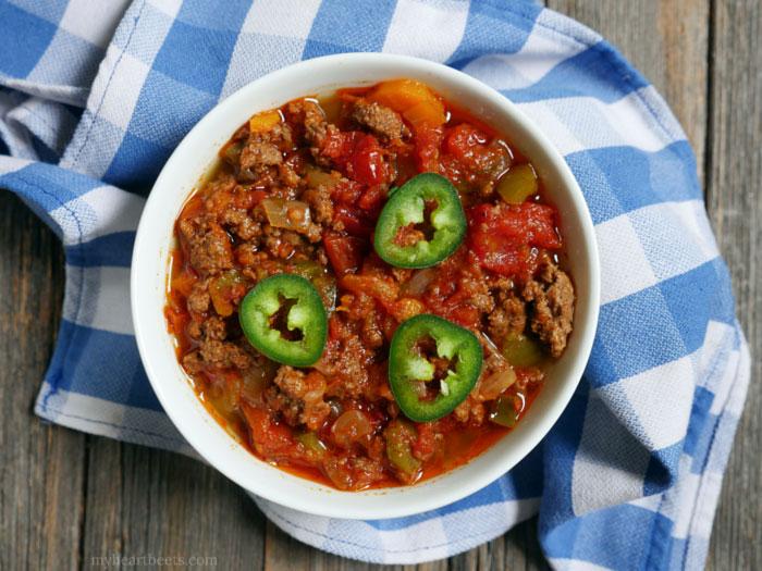 Paleo Texas Chili Beef Slices