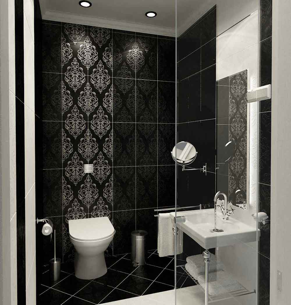 Modern Classic Style Bathroom Black And White Tile Design Ideas My Home Deco Mag
