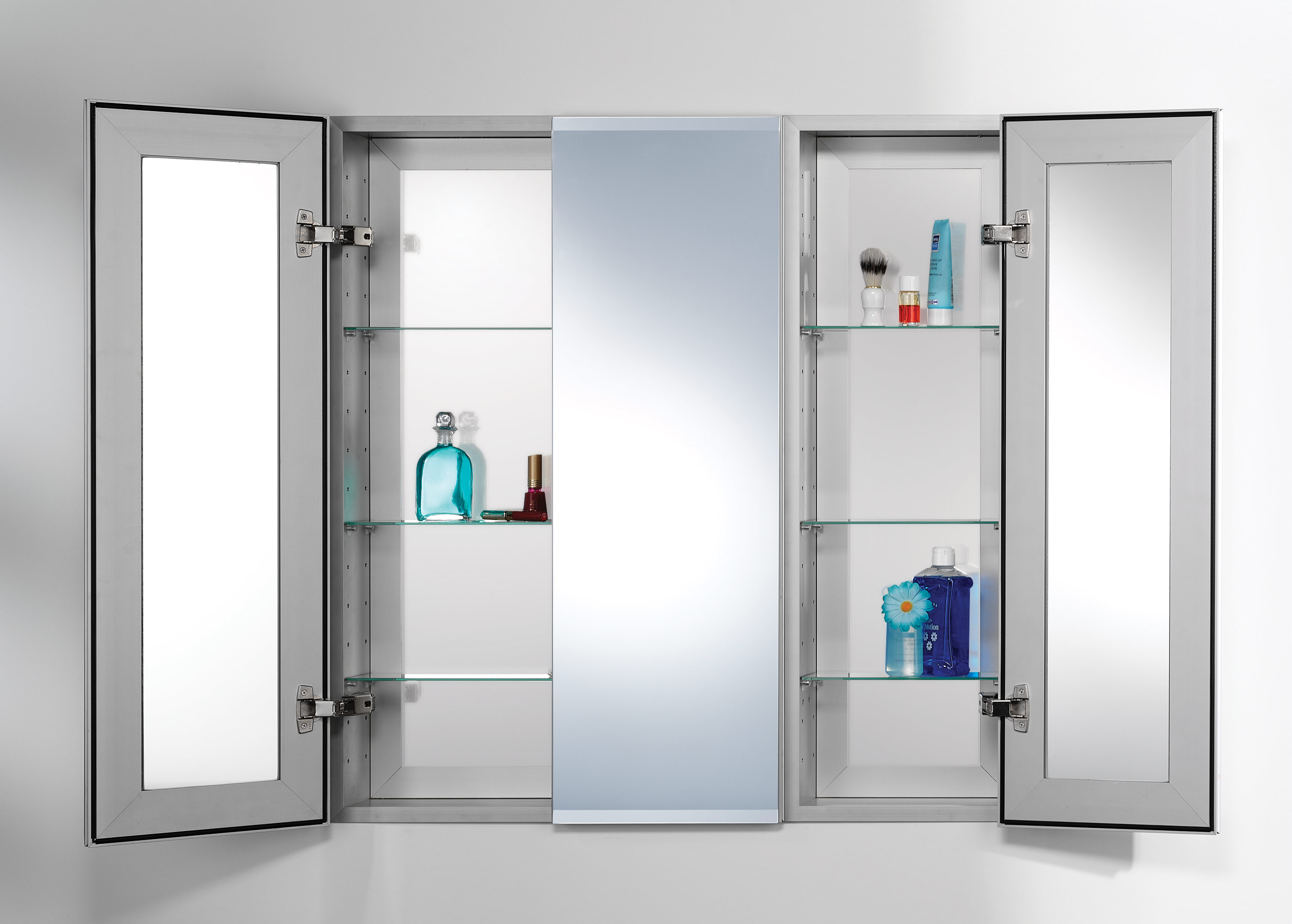 Bathroom Medicine Cabinets With Lights Recessed Mirrored