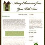 Christmas blog designs for Blogger