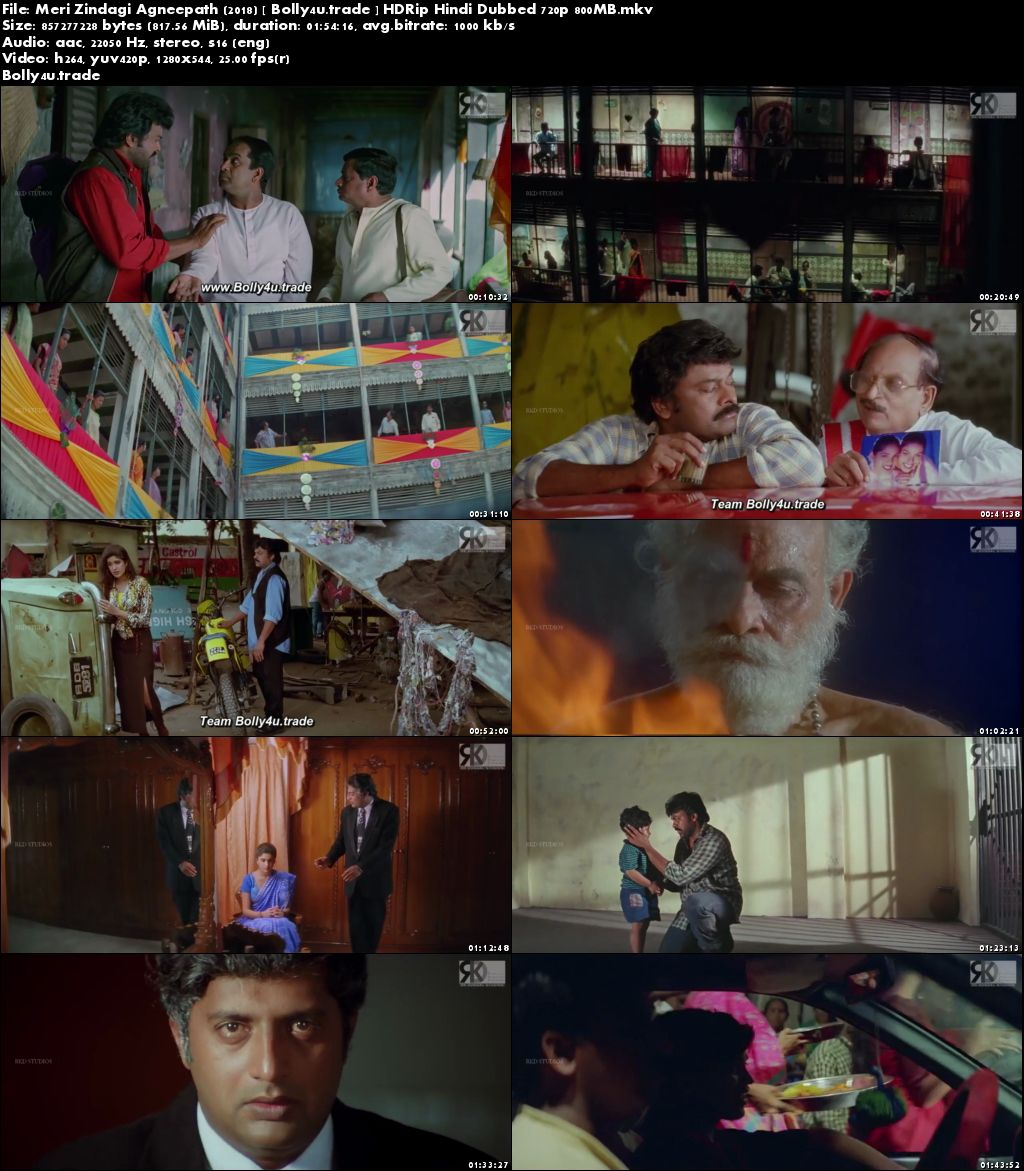Meri Zindagi Agneepath 2018 HDRip 350MB Hindi Dubbed 480p