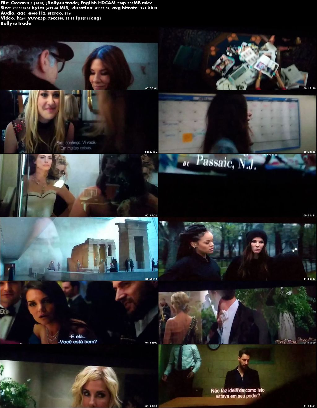 Oceans 8 2018 HDCAM 700MB English 720p Download