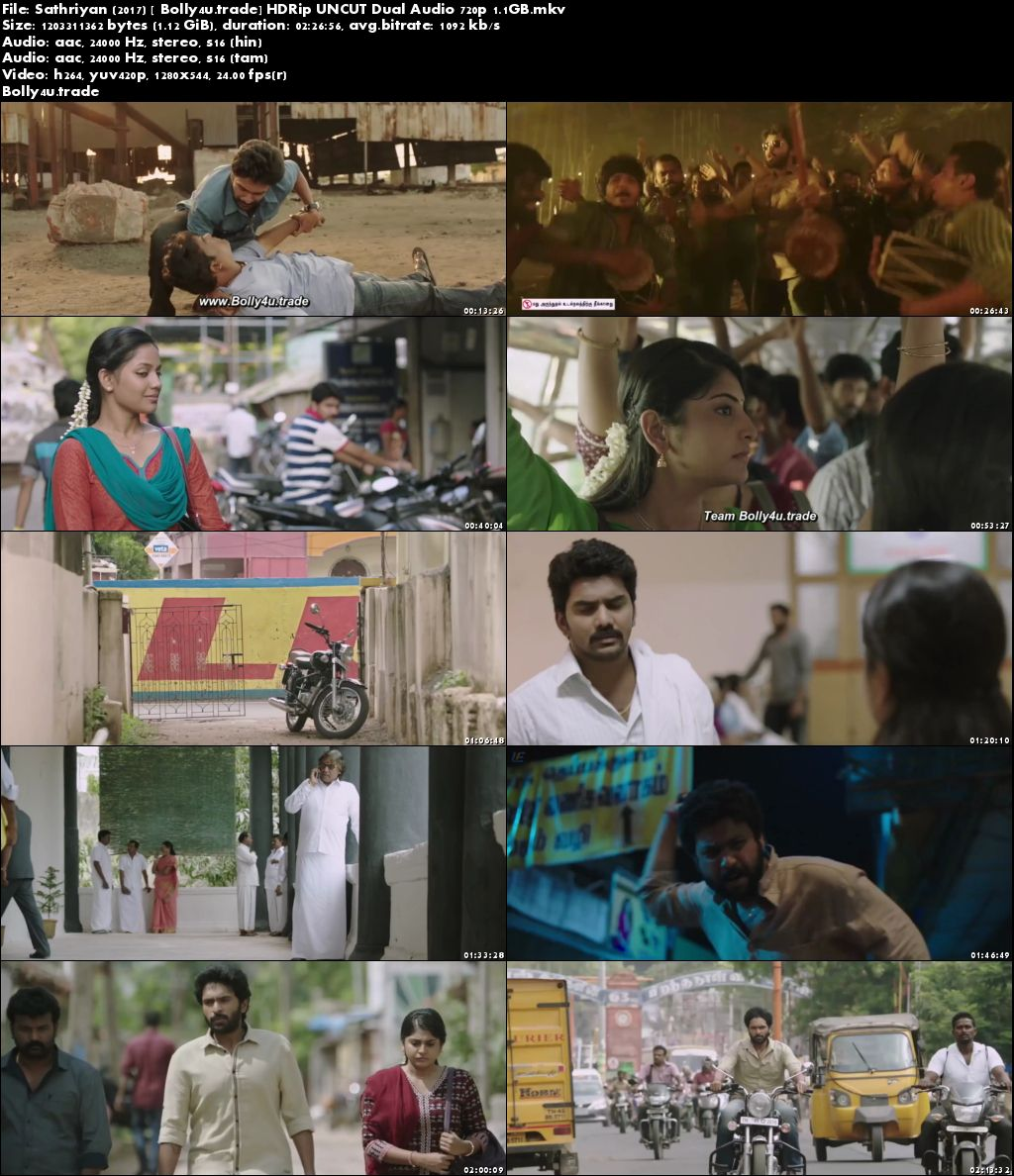 Sathriyan 2017 HDRip UNCUT Hindi Dual Audio 720p Download