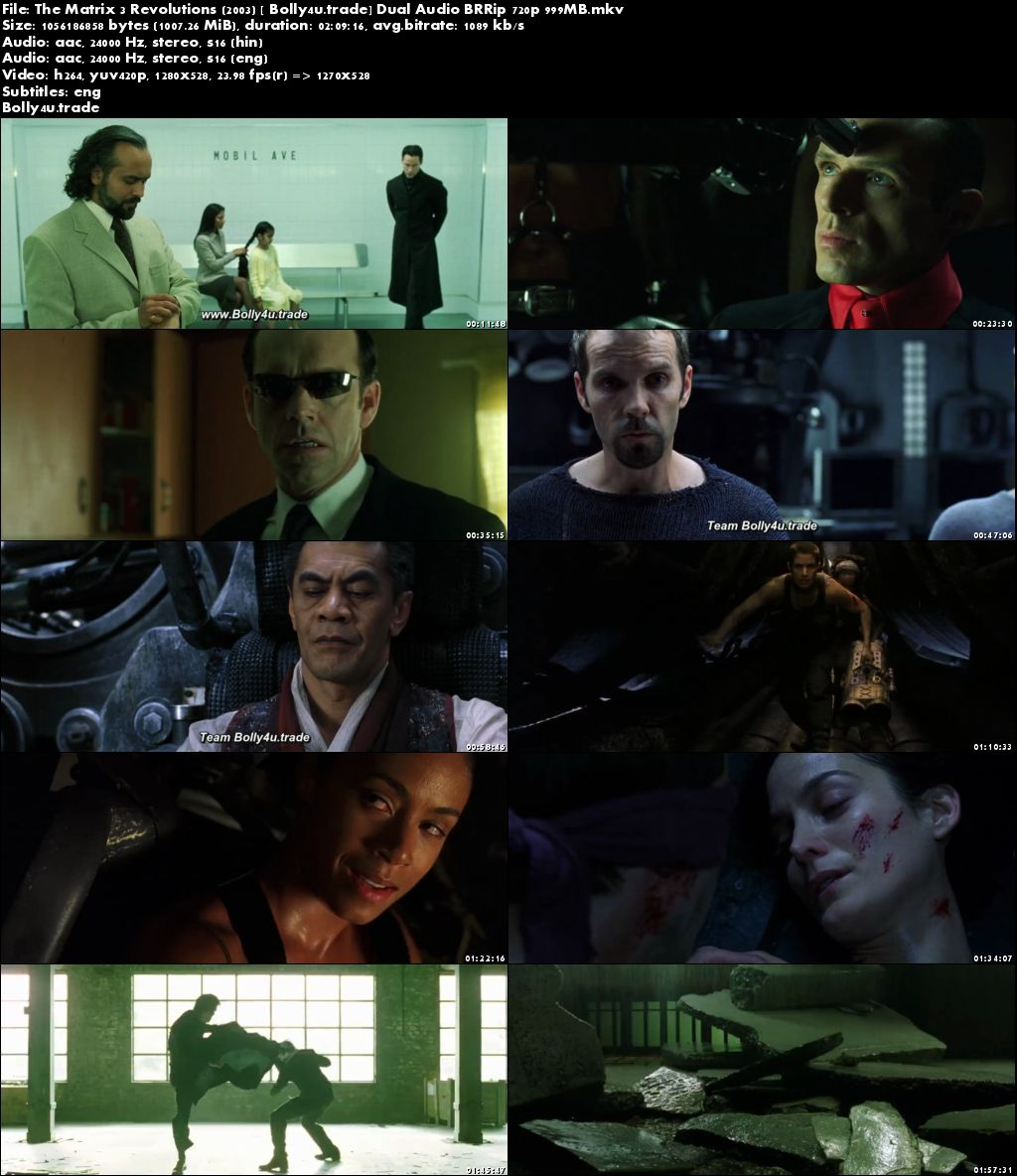 The Matrix 3 Revolutions 2003 BluRay 999MB Hindi Dual Audio 720p Download