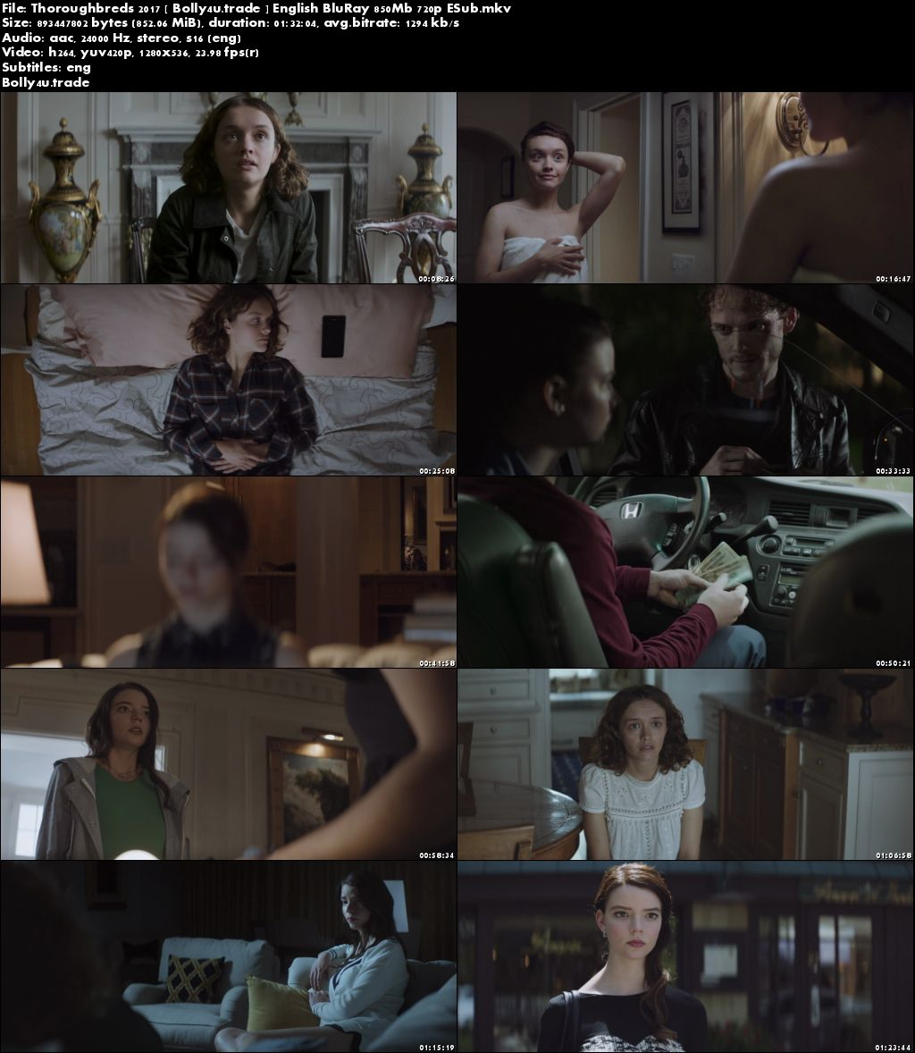 Thoroughbreds 2017 BluRay 300Mb English 480p ESub Download