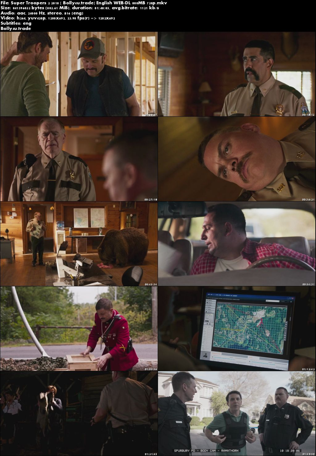 Super Troopers 2 2018 WEB-DL 300Mb Full English Movie Download 480p