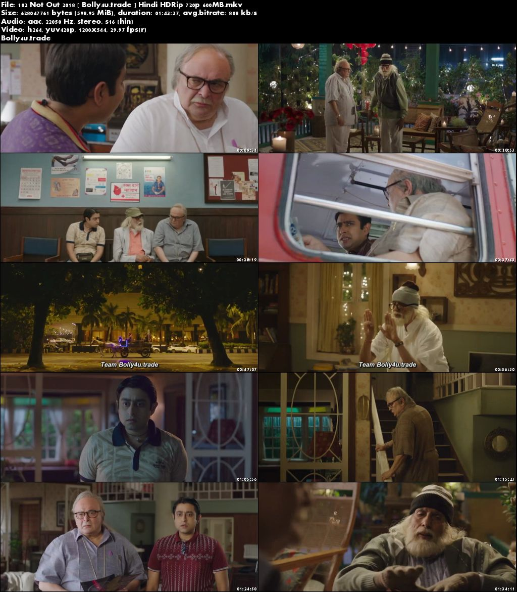 102 Not Out 2018 HDRip 300Mb Full Hindi Movie Download 480p
