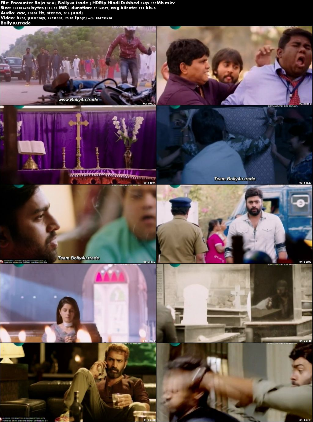 Encounter Raja 2018 HDTV 800MB Full Hindi Dubbed Movie Download 720p