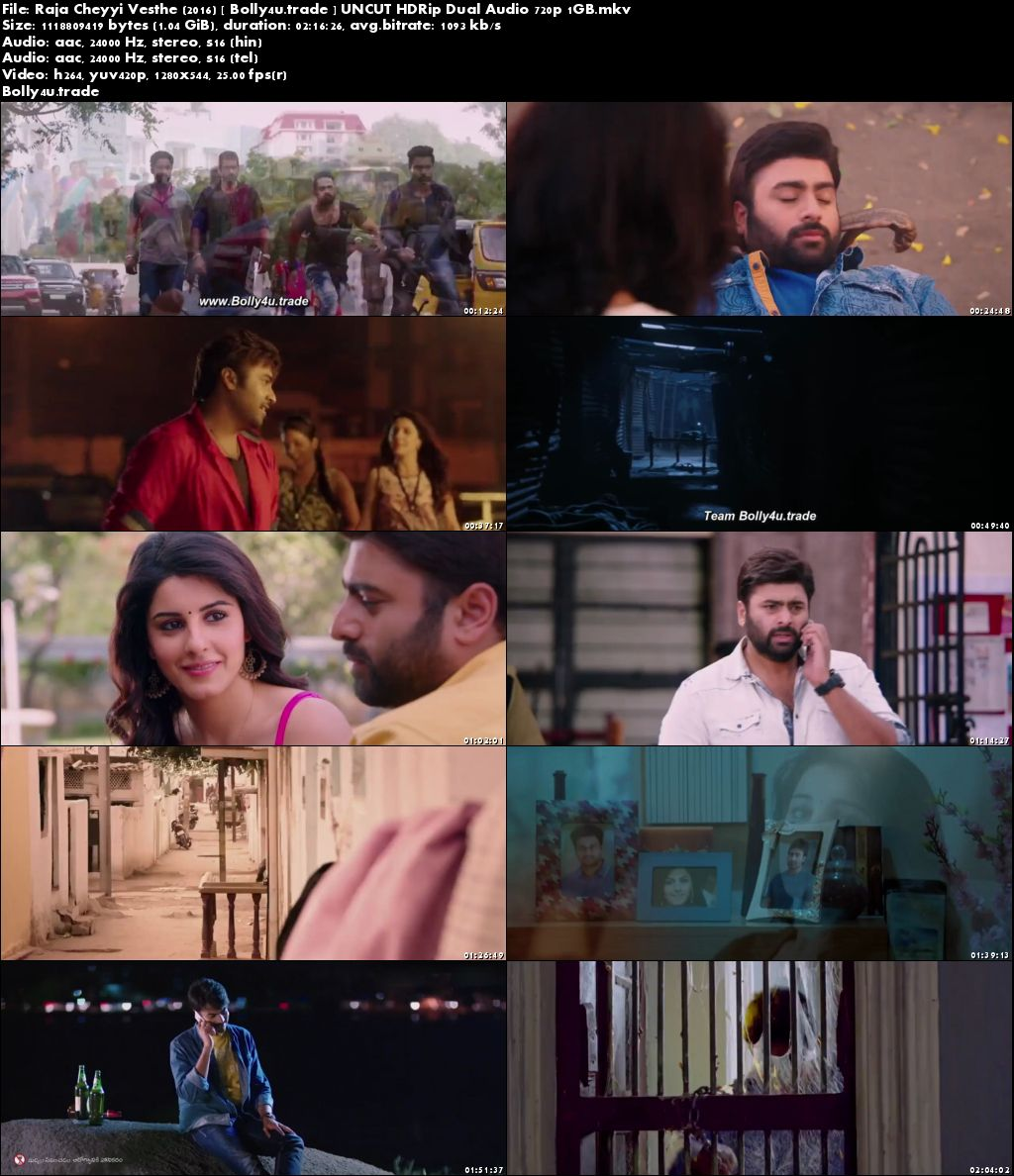 Raja Cheyyi Vesthe 2016 HDRip 400MB UNCUT Hindi Dual Audio 480p Download