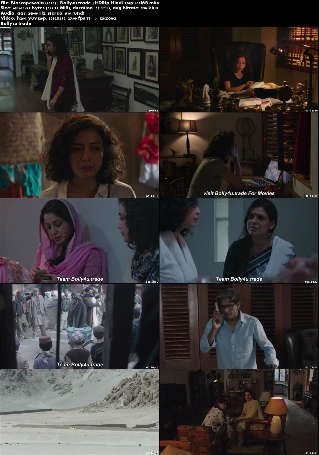 Bioscopewala 2018 HDRip 650Mb Full Hindi Movie Download 720p