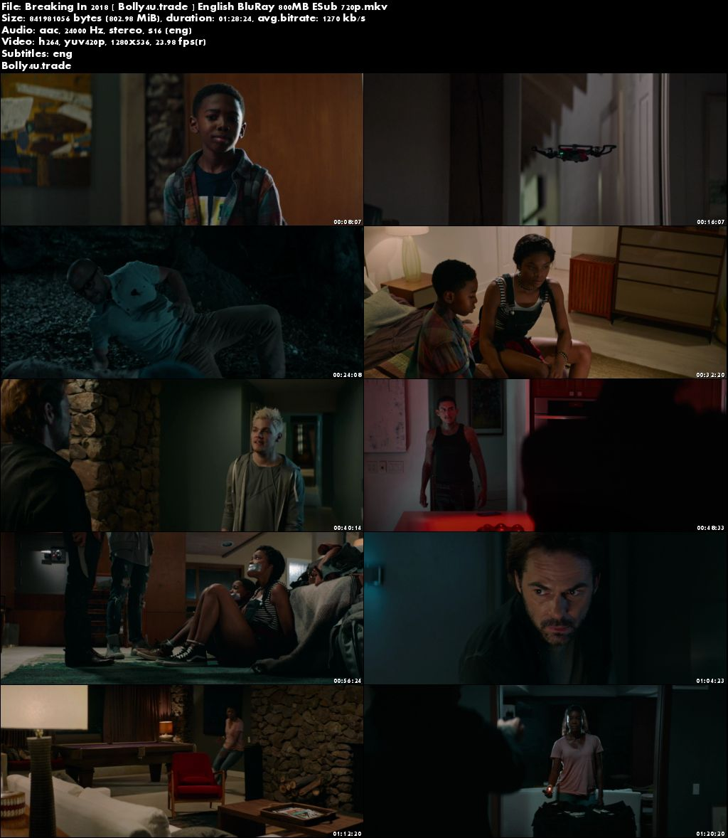 Breaking In 2018 BluRay 270MB Full English Movie Download 480p ESub