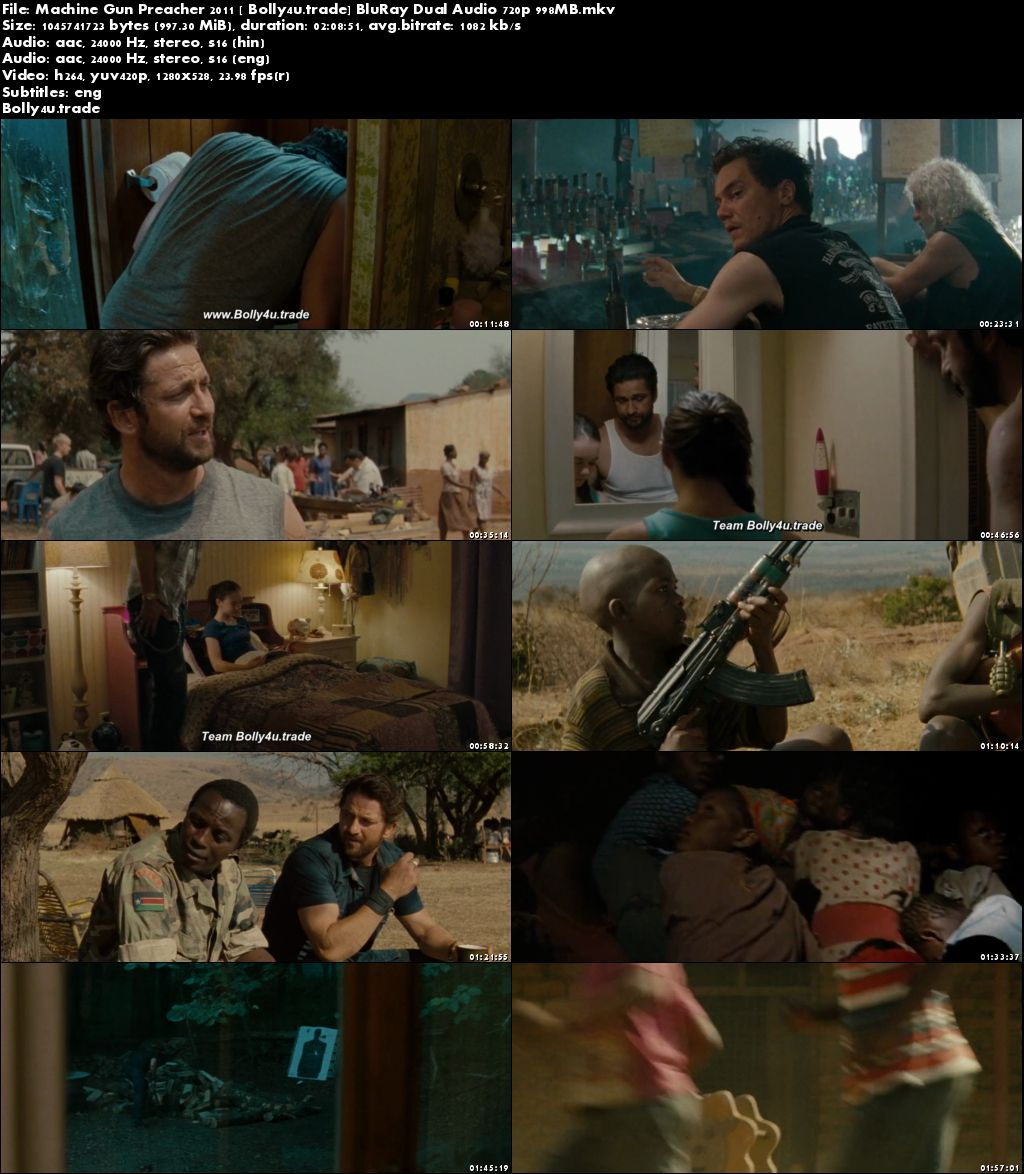 Machine Gun Preacher 2011 BluRay 950Mb Hindi Dual Audio 720p Download