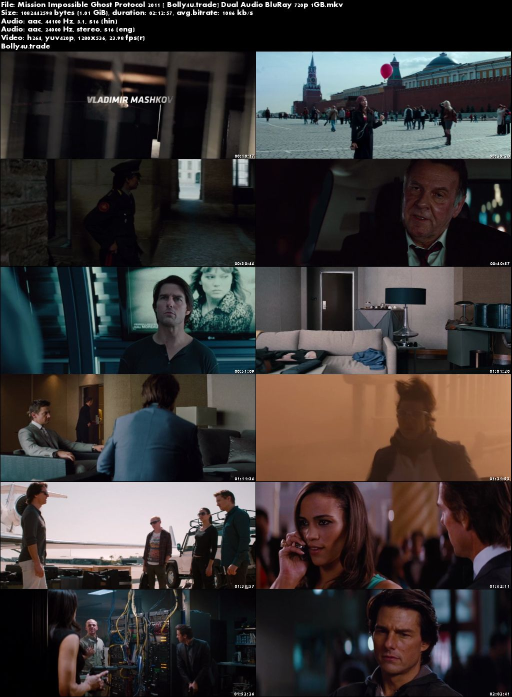 Mission Impossible Ghost Protocol 2011 BRRip 1GB Hindi Dual Audio 720p Download