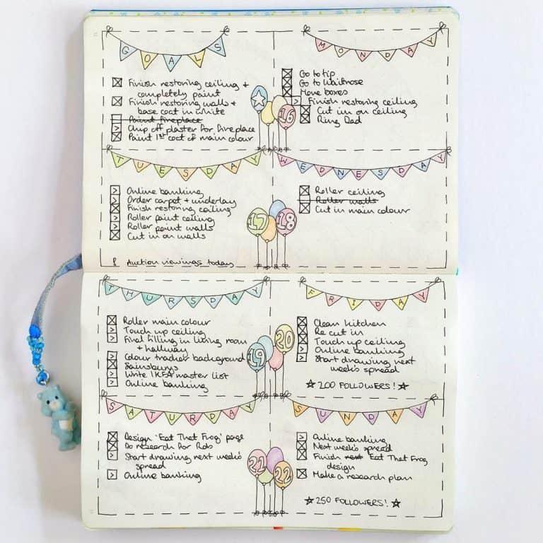 33 Pregnancy Tracker Bullet Journal Layouts to capture milestones