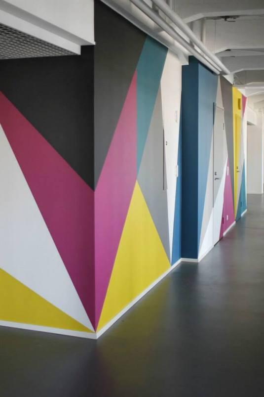 3 originale geometrica multicolor