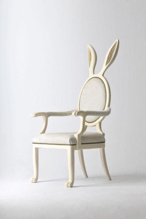 coniglio ogni arredamento che si rispetti ha bisogno di un pezzo eccntrico Hybrid Collection Chair di Merve Kahraman