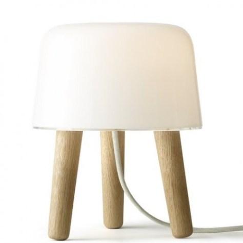 mucca Norm Design di Copenhagen ha disegnato questa lampada, MILK, realizzata in vetro lucido e legno