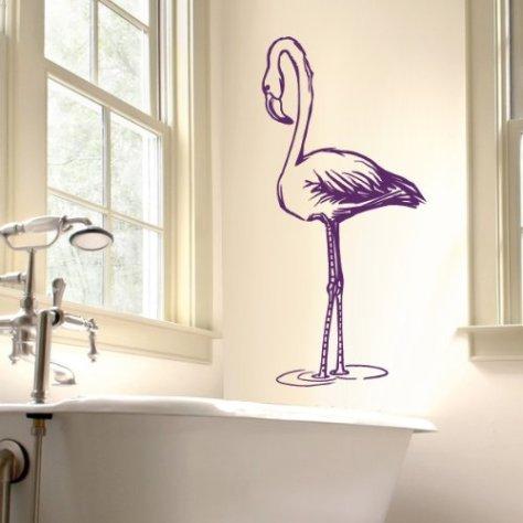 .amazon your design Decalcomanie da muro - fenicottero - 35 x 71 cm - viola