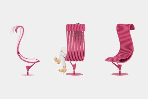 arr Questa è una sedia unica Joana Rita Gomes , ispirato da fenicottero, un uccello rosa, che sembra incredibile