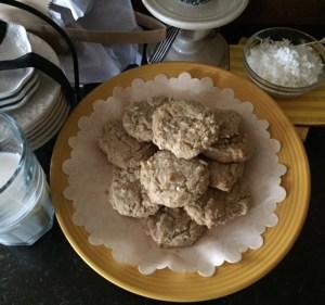 Butter pecan and coconut cookies
