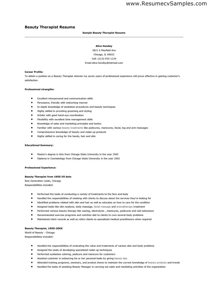 beauty therapy resume Girly Mind MyJobNews - radiation therapist resume