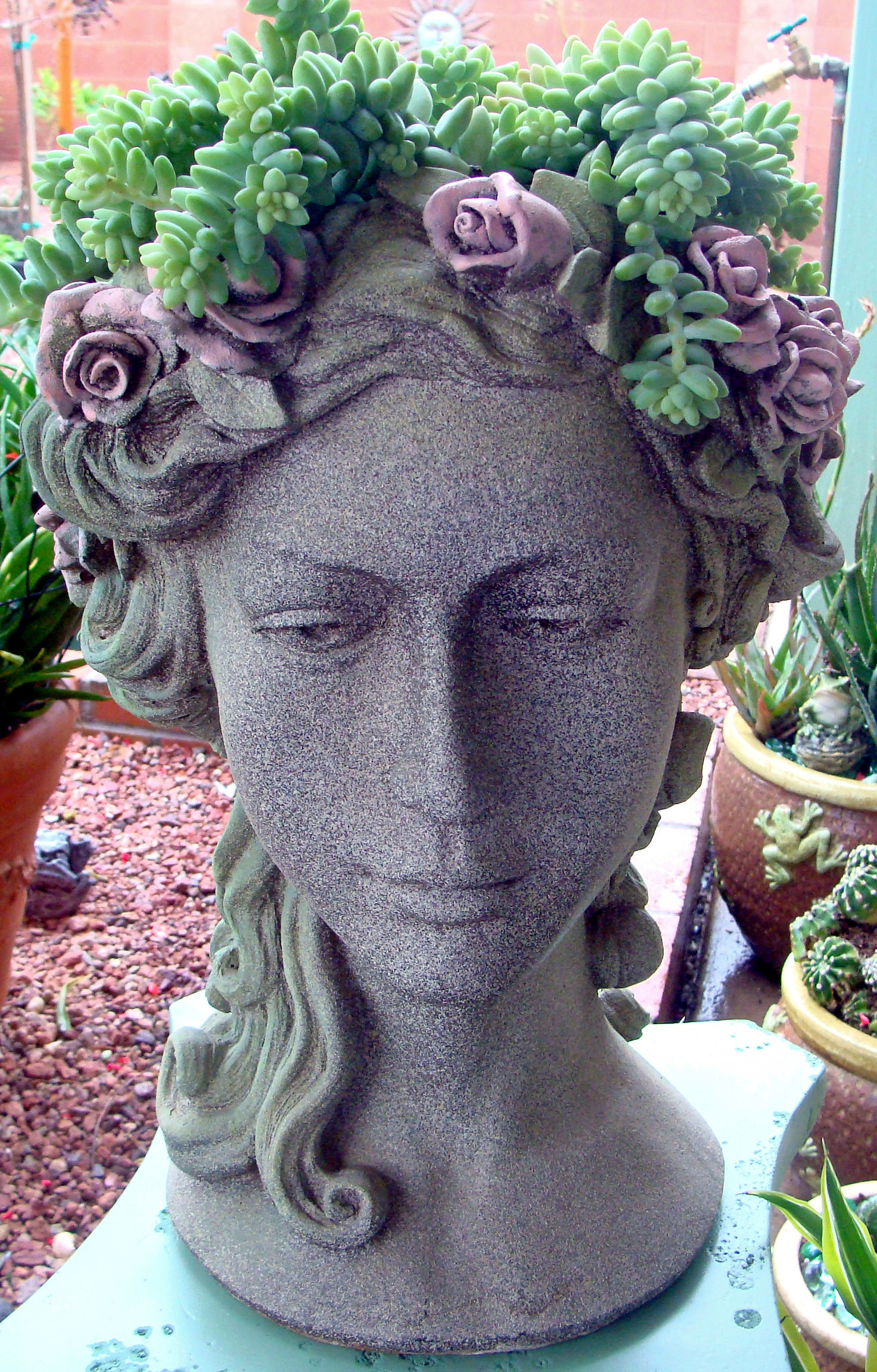 Planter Heads Dazzling Head Planters Will Add Some Fun To Your Garden