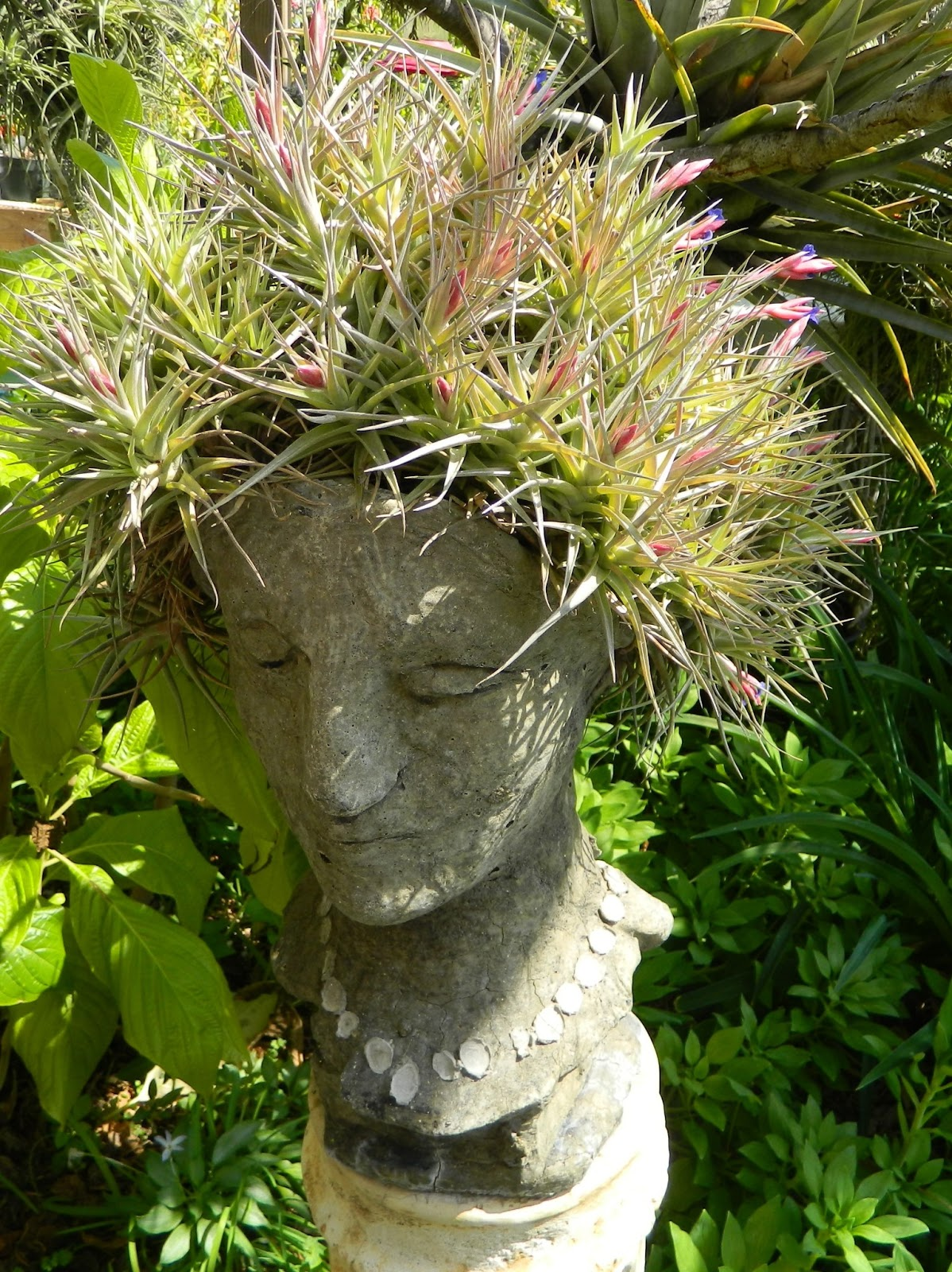 Indoor Garden Dazzling Head Planters Will Add Some Fun To Your Garden