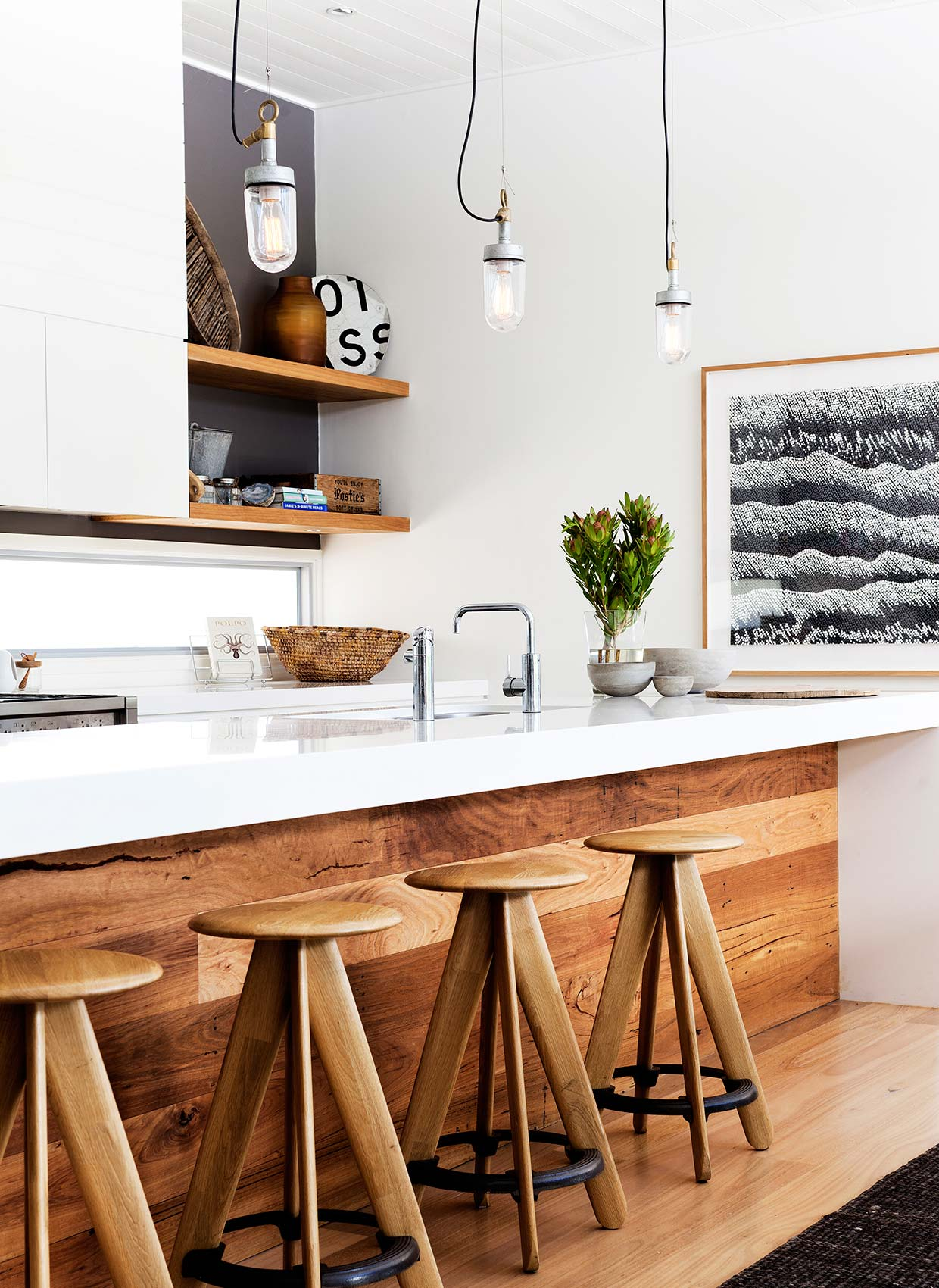 White And Wood Kitchen White And Wood Is The Trendiest Combination For Kitchen Design