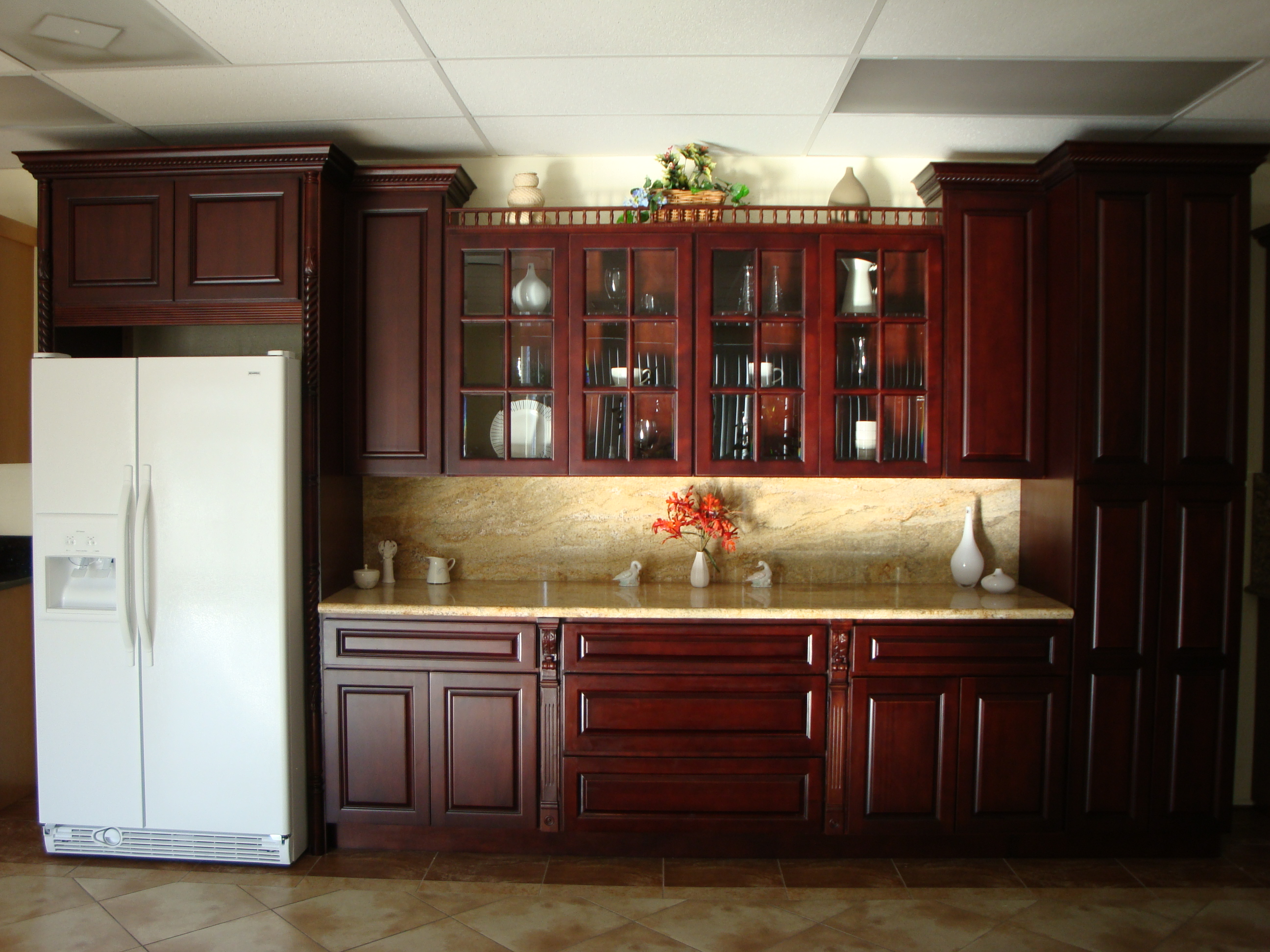Kitchen Cabinets Cherry Wood Decorating With Cherry Wood Kitchen Cabinets My Kitchen