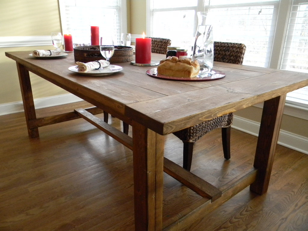 Farmhouse Dining Table Farmhouse Wooden Kitchen Tables As Ageless Rustic Interior