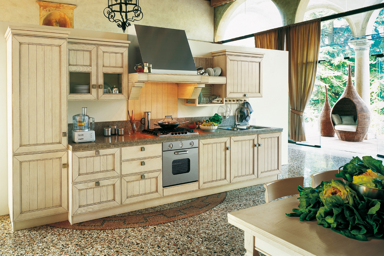 Vintage Style Kitchens Maximizing Cabinet Color To Create Retro Style Kitchen