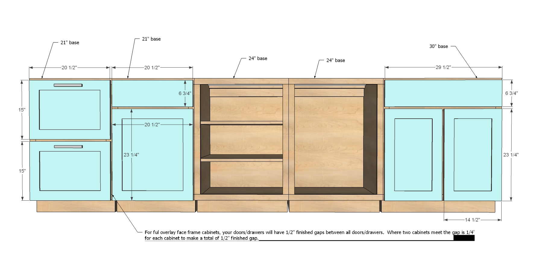 Standard Dimensions For Kitchen Cabinets The Common Standard Kitchen Cabinet Sizes That Must Be