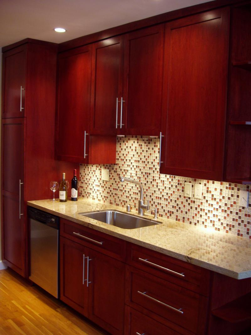 Brighter Kitchen Paint Colors with Cherry Cabinets ...