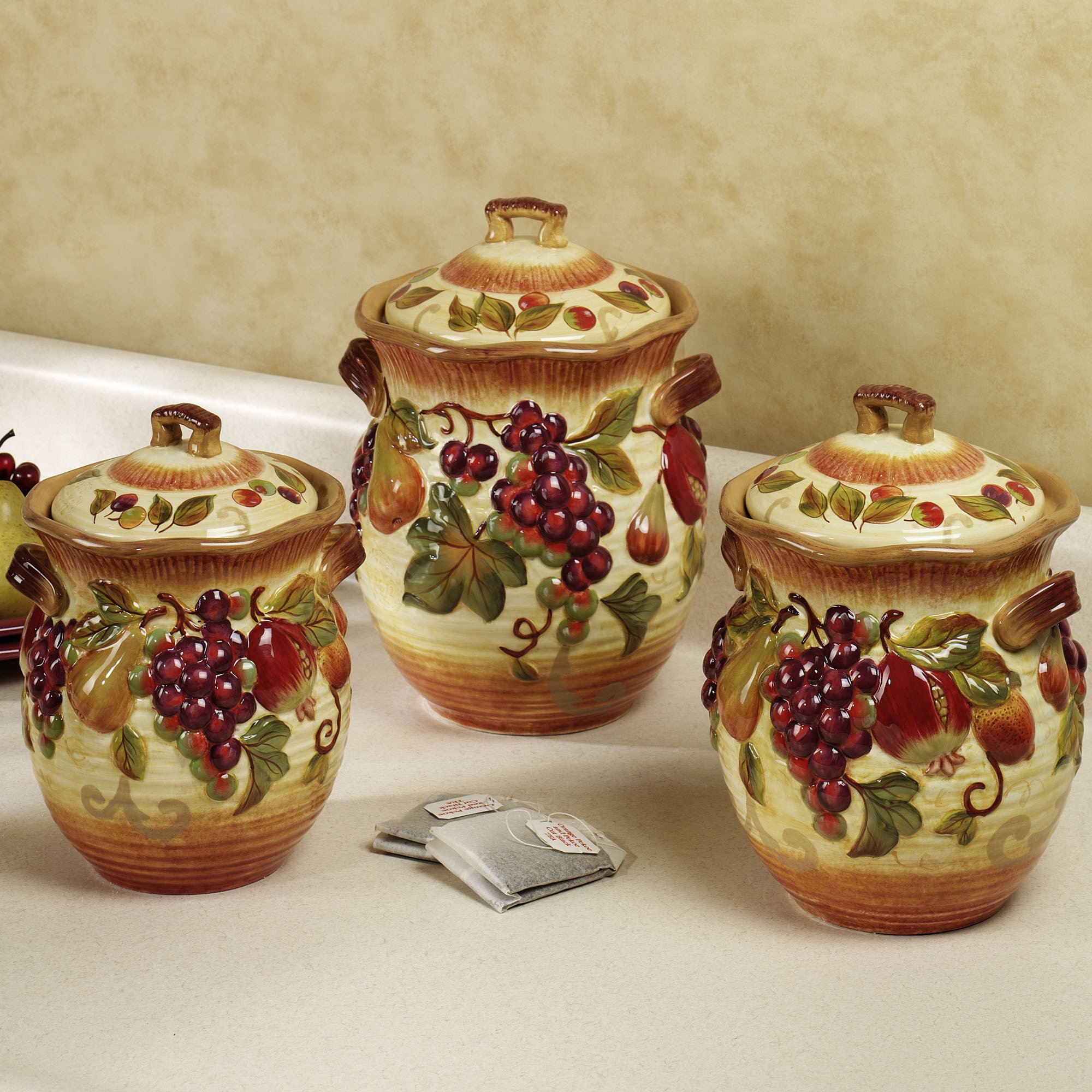 Fruit Themed Kitchen Decor Collection Apple Canisters Sets Apple Cookie Jarmy Granny Had A
