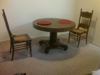 Kitchen table and chairs with wheels Photo - 9   Kitchen ideas