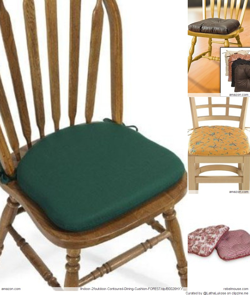 Kitchen chair cushions with ties
