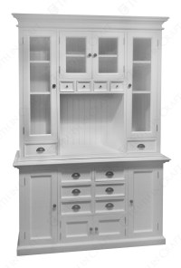 White kitchen hutch cabinet