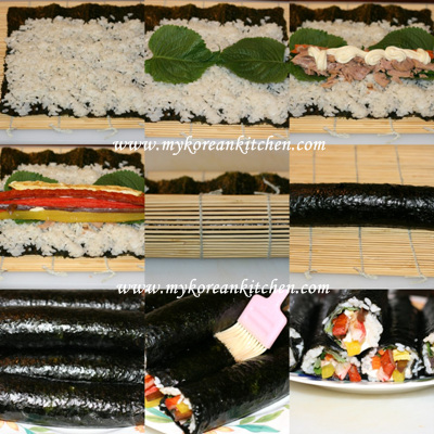 Tuna Rolls (Chamchi Kimbap in Korean) Making process