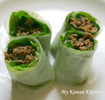 Bulgogi Wrapped in Rice Paper 3