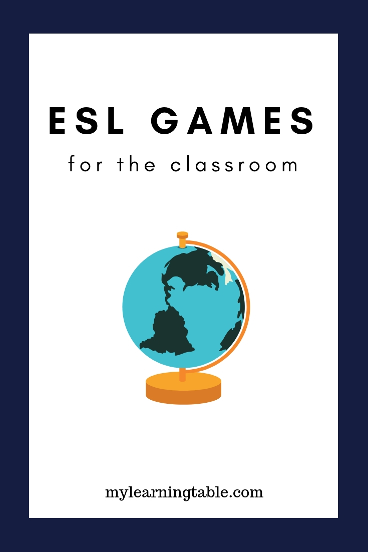 Esl Games Esl Games For The Classroom Learning Table