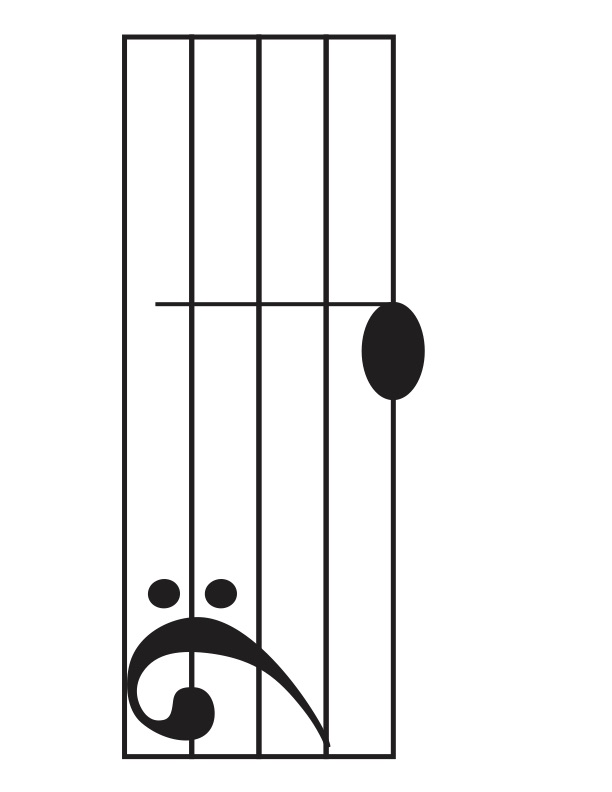 Large Bass Clef Quiz Cards Myles Music - base cleff