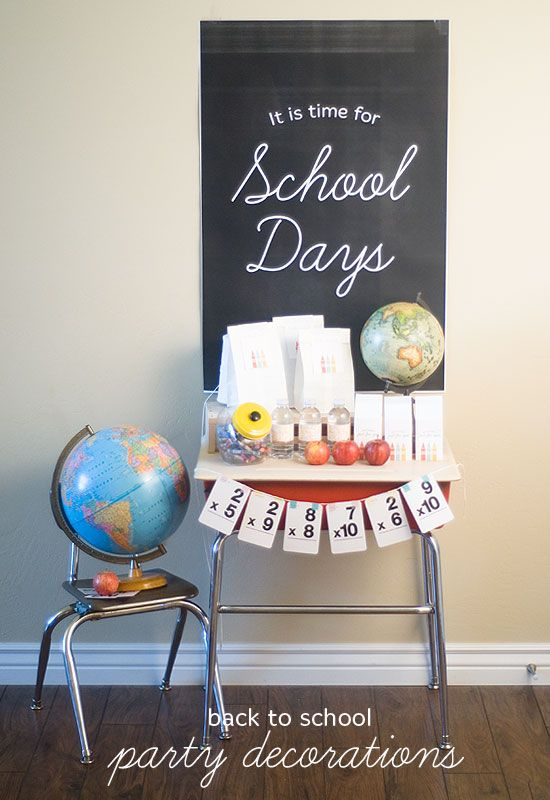 Kids Table Back To School Party Ideas - My Life And Kids