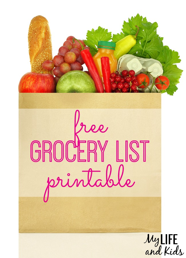 Free Grocery List Printable - My Life and Kids