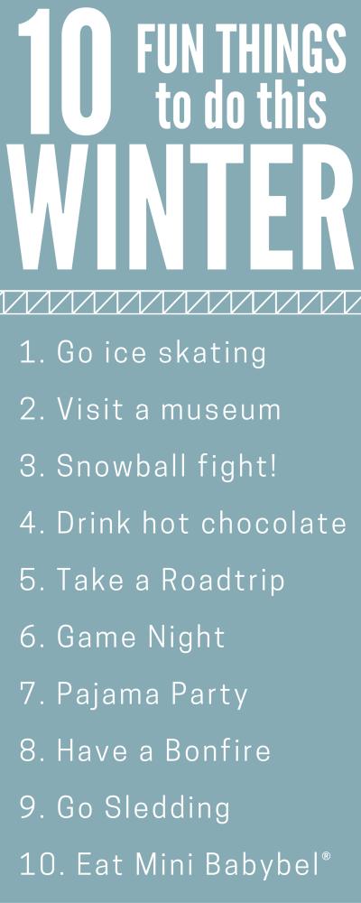 Fun Winter Activities - My Life and Kids