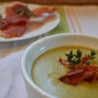 Split Pea Soup with Crispy Prosciutto