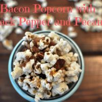 Bacon Popcorn with Black Pepper and Pecans