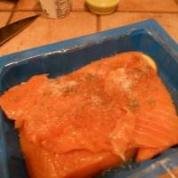 Sage Salmon with Pear Cream Sauce