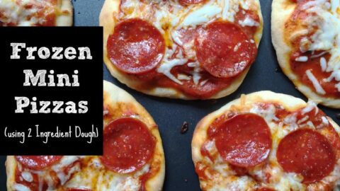 Frozen Mini Pizzas Using 2 Ingredient Dough